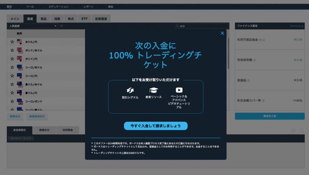 iFOREXの100%入金ボーナス